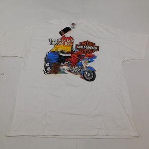 Harley Davidson Bangor, Maine 2XL White T Shirt Cr